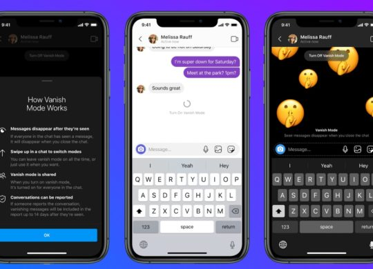 Facebook Messenger Vanish Mode