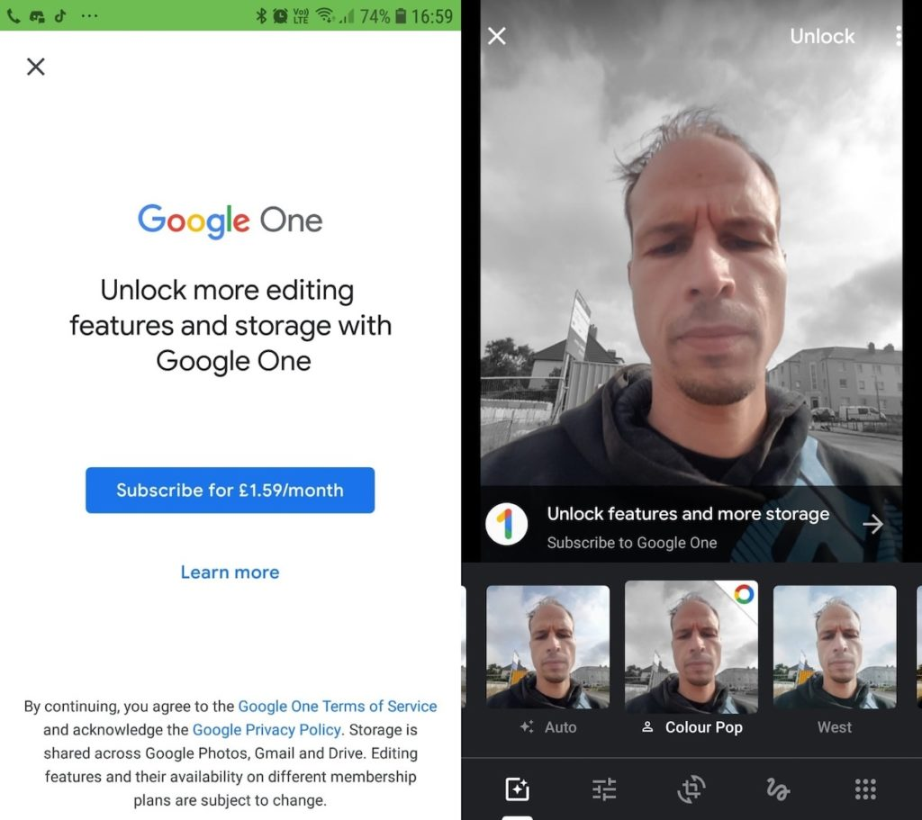 Google Photos Fonctions Payantes Google One