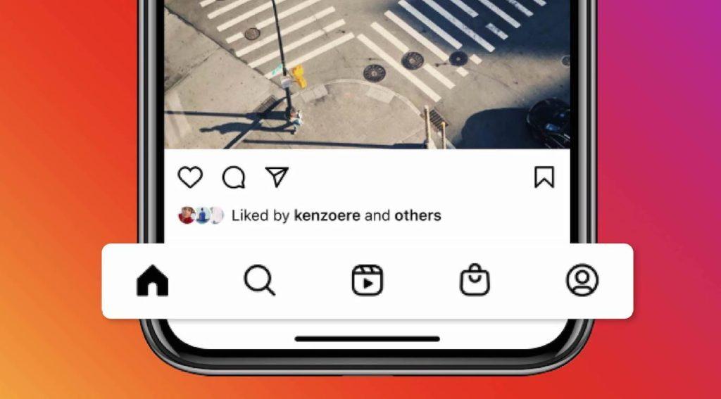 Instagram Onglets Reels Shopping