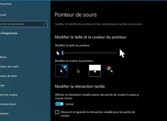Pointeur Souris Windows 10