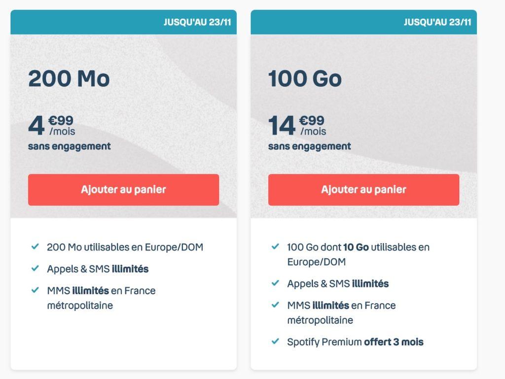 Promo Forfait Mobile Bouygues Telecom Novembre 2020