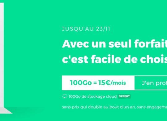 Promo SFR RED Forfait 100 Go Novembre 2020