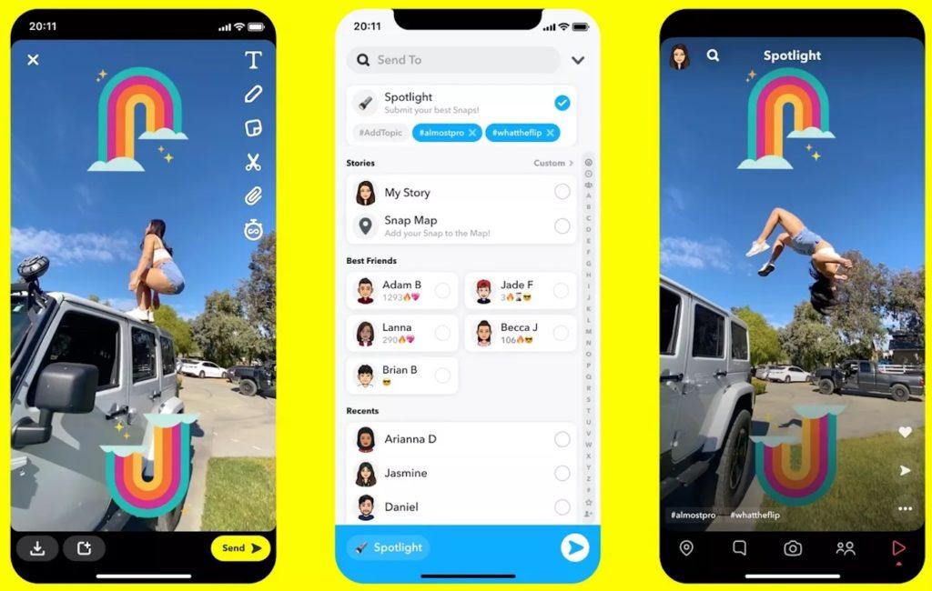 Snapchat Spotlight vient concurrencer TikTok