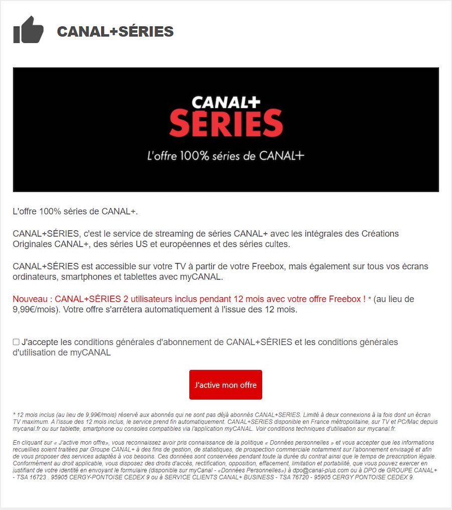 Canal Plus Series Offert Un An Freebox Pop Delta