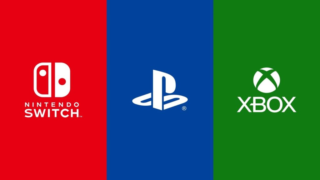 Nintendo Switch vs Sony PlayStation vs Microsoft Xbox Logos