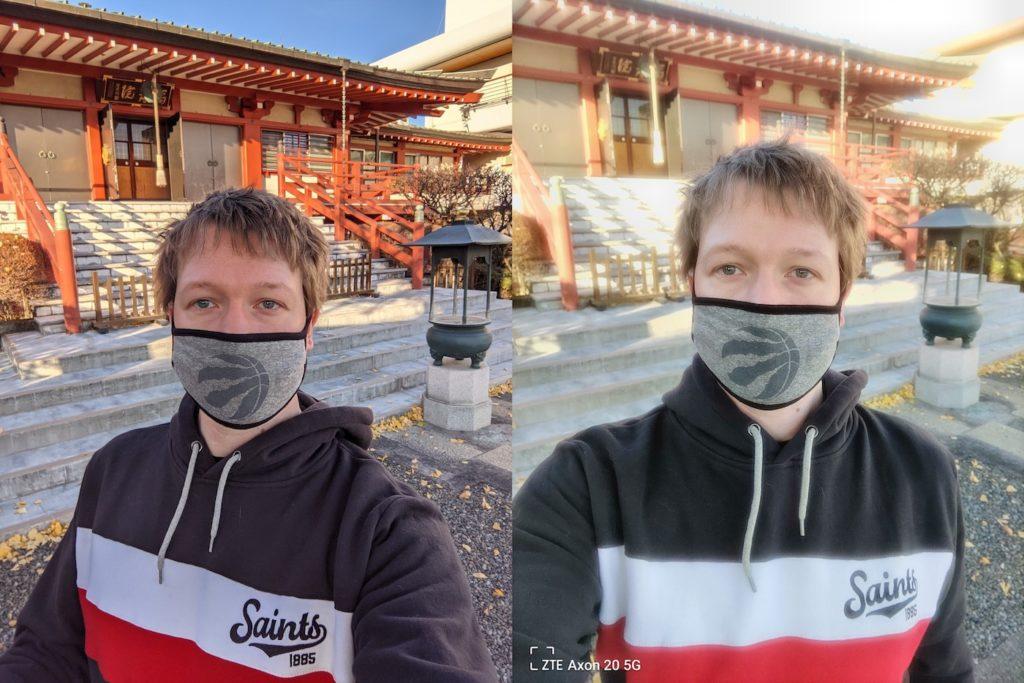 Qualite Photo Selfie Pixel 5 vs Axon 20 5G