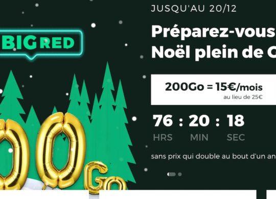 SFR RED Promo Forfait Noel 2020
