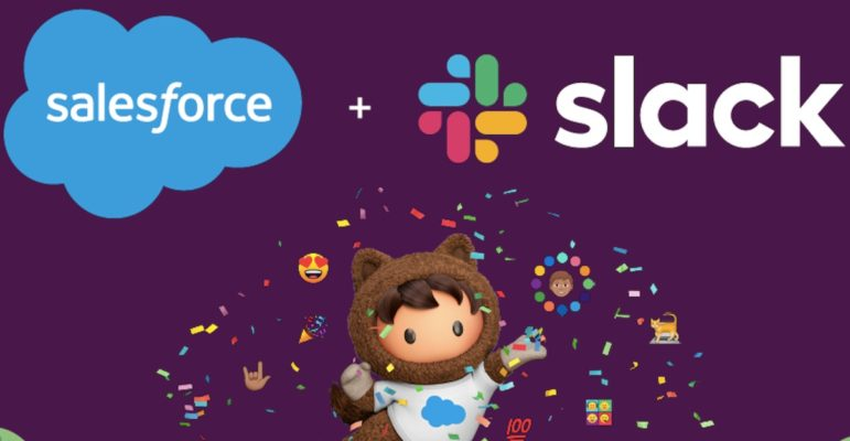 Salesforce et Slack Logos