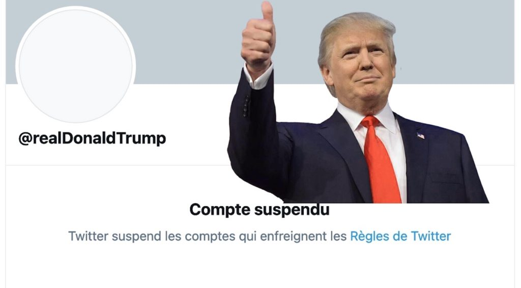 Donald Trump Compte Twitter Suspendu Definitivement