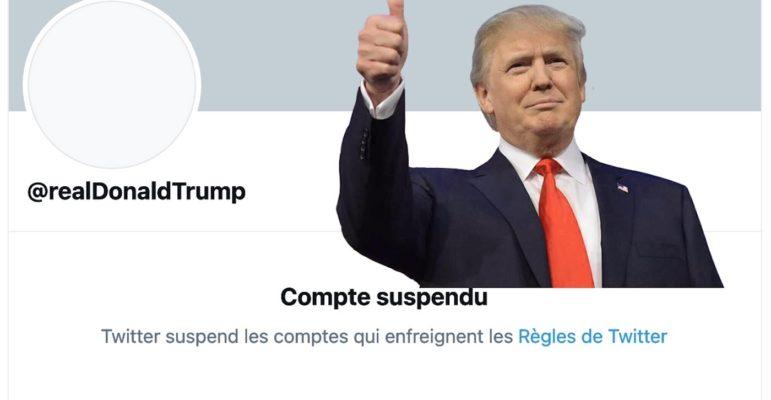 Donald Trump Compte Twitter Suspendu Definitivement