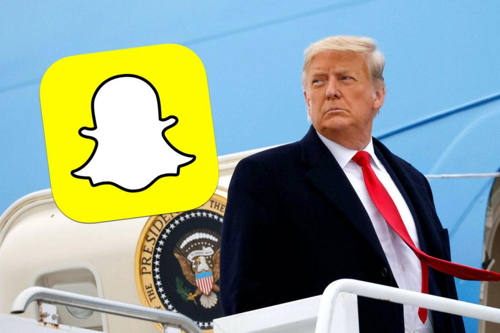 Comme Twitter, Snapchat va définitivement bannir Donald Trump