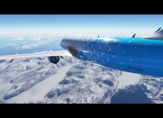 Flight Simulator neige