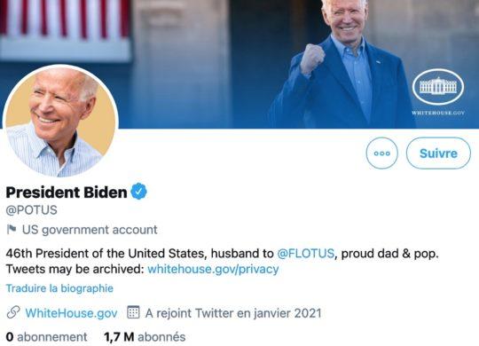 Joe Biden POTUS Compte Twitter