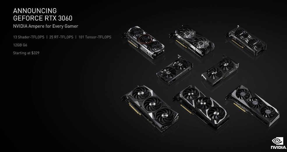 GeForce RTX 3060 : Nvidia dévoile son GPU qui remplace la GTX 1060