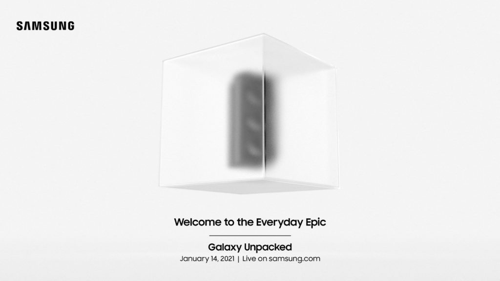 Samsung Galaxy Unpacked-2021 Galaxy S21 Invitation 14 Janvier 2021