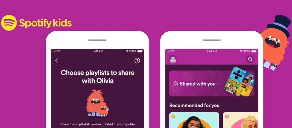 Spotify Kids ajoute le support des playlists partagées, idéal pour les parents
