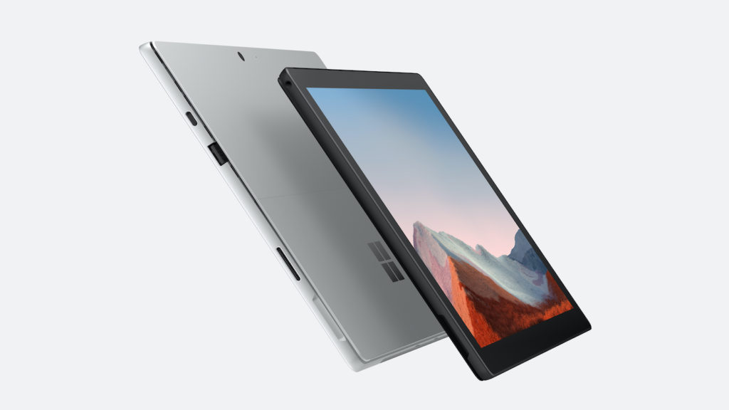 Surface Pro 7 Plus Avant Arriere