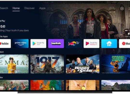 Android TV Nouvelle Interface Ecran Accueil