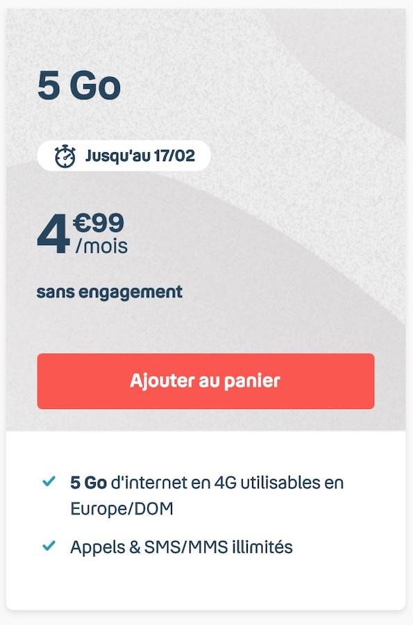 Bouygues Telecom Forfait 5 Euros Fevrier 2021