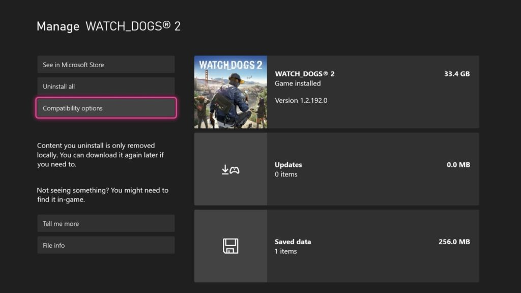 FPS Boost Xbox Series Options