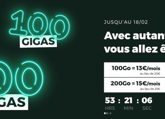 SFR RED Promo Forfaits 100 et 200 Go Fevrier 2021