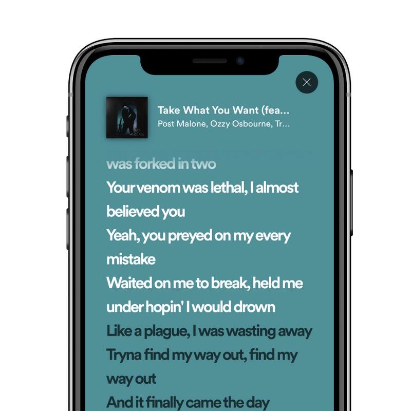 Spotify teste un peu plus les paroles en temps réel sur son application