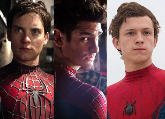 spider-man tom holland tobey maguire andrew garfield