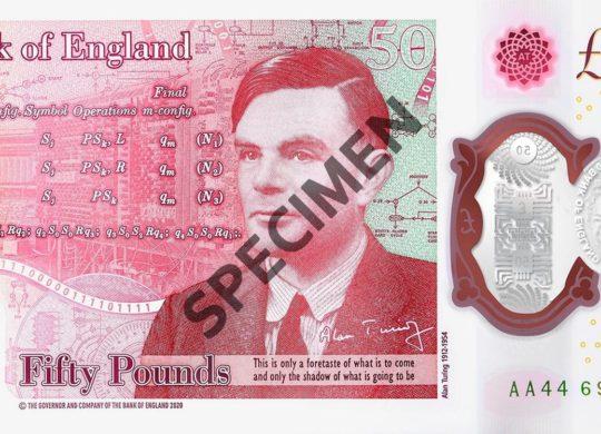 Alan Turing 50 livres
