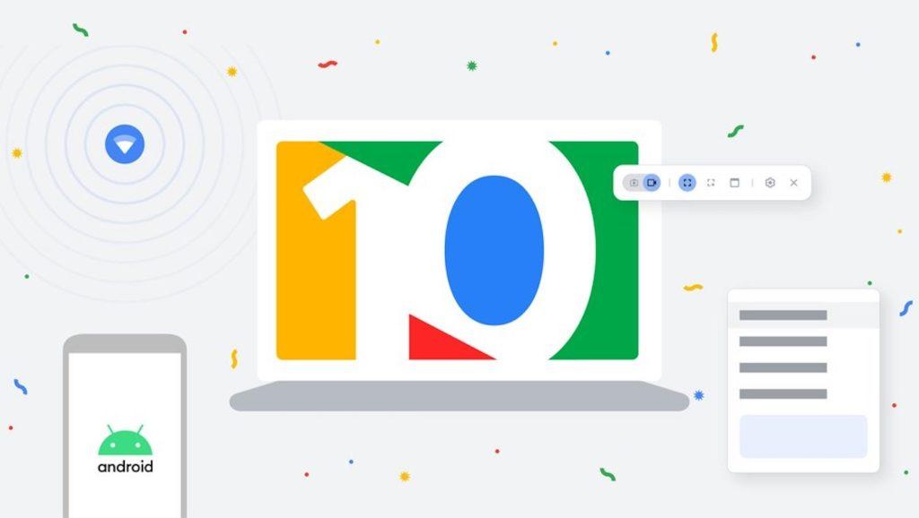 Le Chromebook fête ses 10 ans avec des nouveautés pour Chrome OS