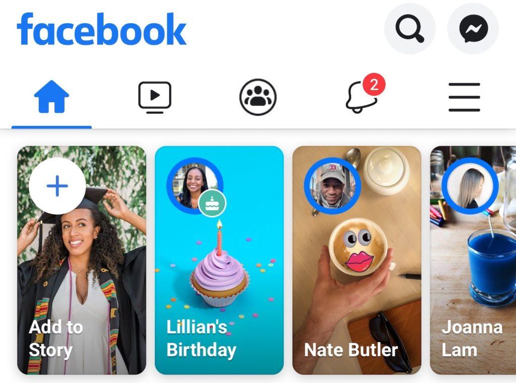 Facebook teste l'affichage de publicités dans les stories