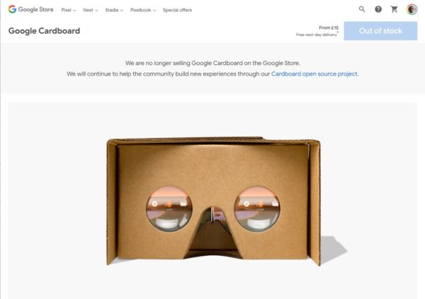 Google Cardboard Google Store