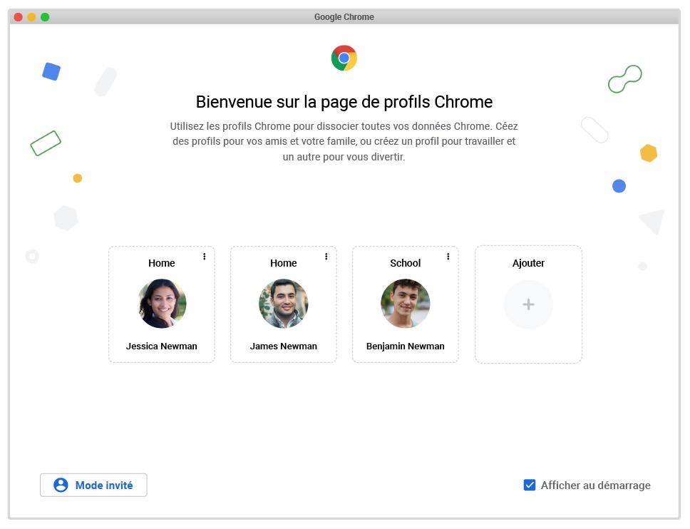 Google Chrome 89 Nouvelle Interface Profils