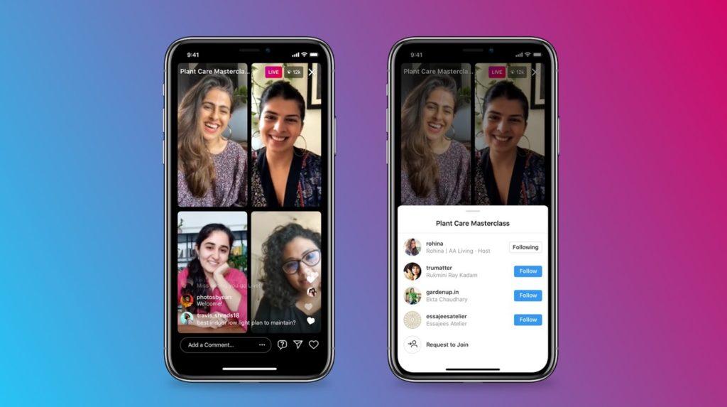 Instagram ajoute la possibilité de faire un direct à 4 personnes