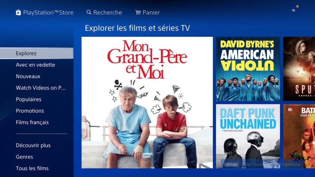 PlayStation Store va cesser la vente de films et séries le 31 août