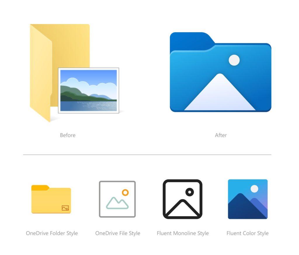 Windows 10 Explorateur de Fichiers Nouvelles Icones 2
