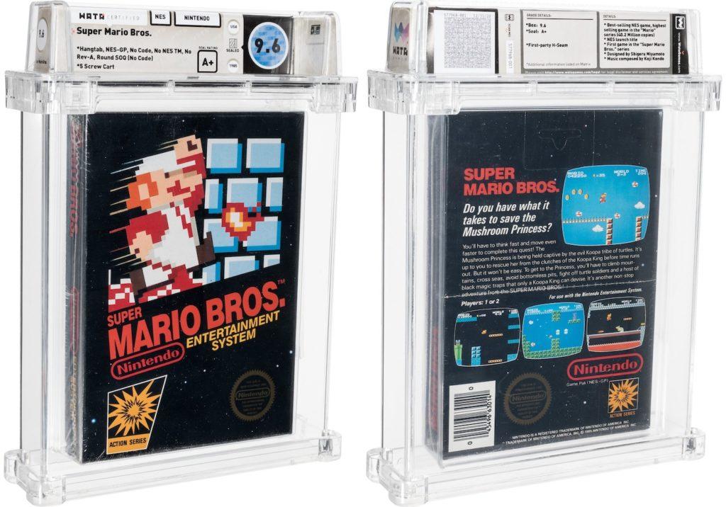 Une cartouche de Super Mario Bros a été vendue 660 000$, un record