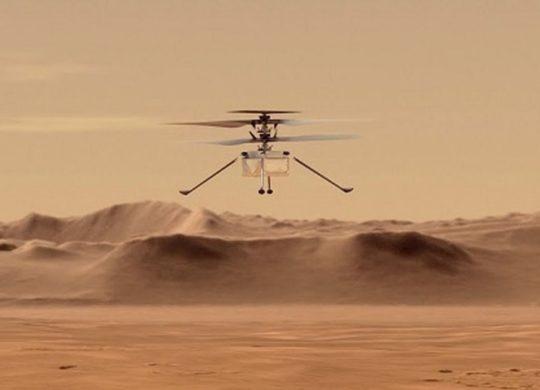 Ingenuity au dessus de Mars 1