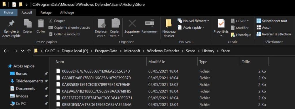 Bug Windows Defender Creation Fichiers Windows 10