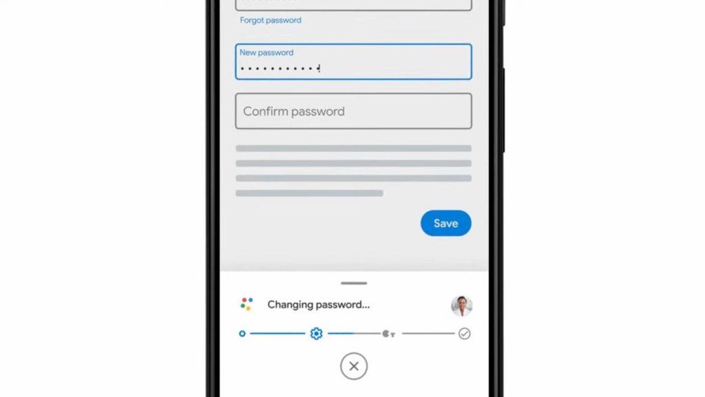 Changer Mot de Passe Automatique Google Assistant
