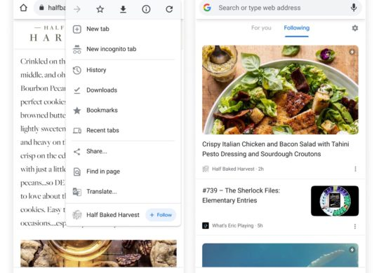 Chrome Android Bouton Suivre RSS