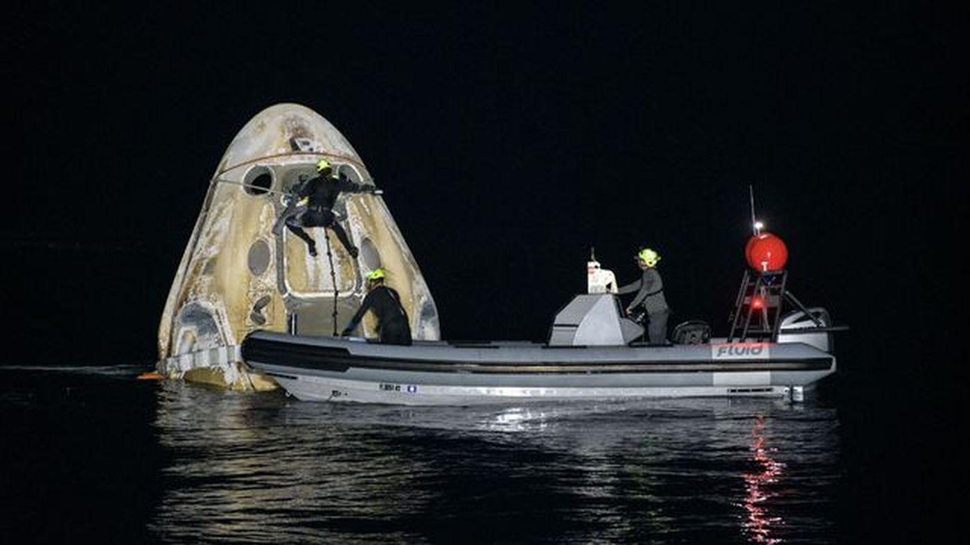 Crew-1 : retour sur Terre sans soucis pour les 4 spationautes