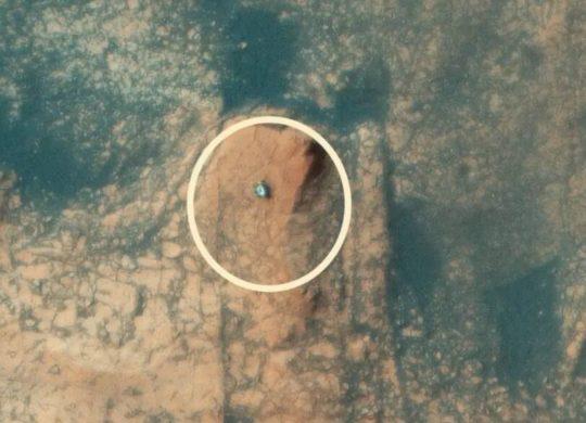 Curiosity Mars vue aérienne