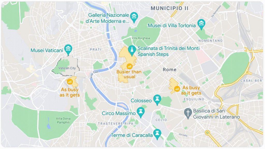 Google Maps Zones Grosse Affluence