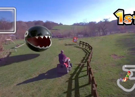 Mario Kart tondeuse à gazon
