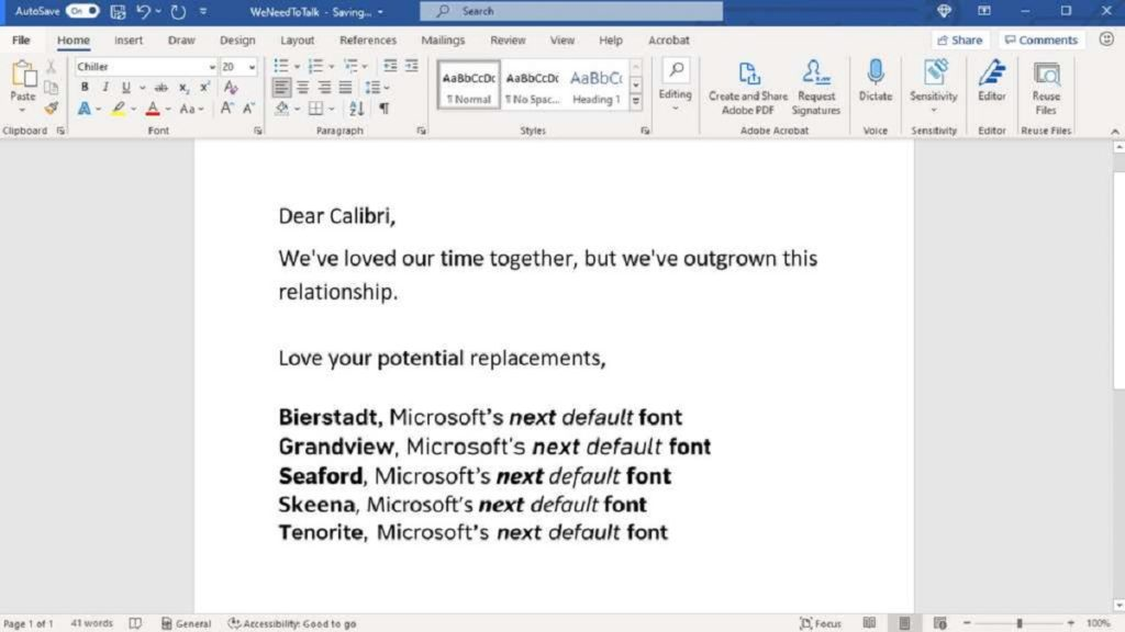 Microsoft Calibri