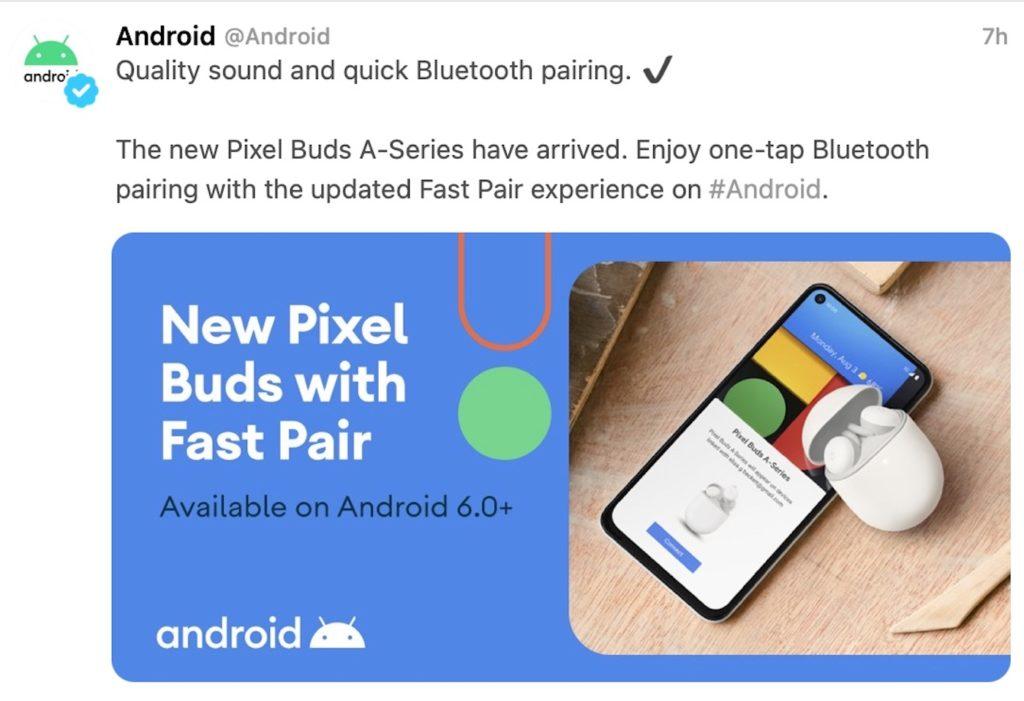 Pixel Buds A-Series Tweet Erreur 2
