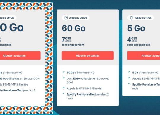 Promo Forfait Bouygues Telecom Mai 2021