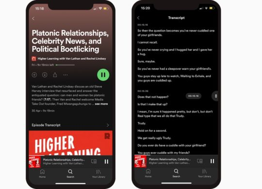 Spotify Transcription Automatique Podcasts