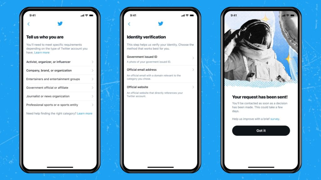 Twitter Formulaire Certification Compte