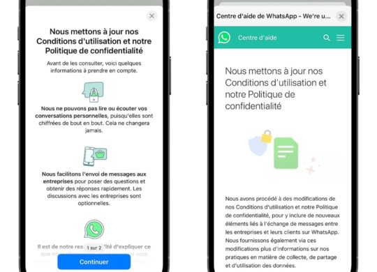 WhatsApp Nouvelles Conditions Utilisation
